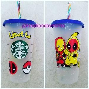 Custom Confetti cold cup W/design & name